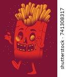 french fries vector... | Shutterstock .eps vector #741308317