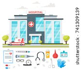vector cartoon style... | Shutterstock .eps vector #741309139