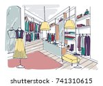 colored freehand drawing of... | Shutterstock .eps vector #741310615