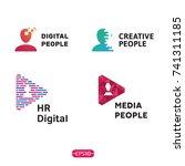 people logo design template set.... | Shutterstock .eps vector #741311185