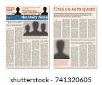 newspaper journal modular... | Shutterstock .eps vector #741320605