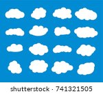 cloud vector icon set white... | Shutterstock .eps vector #741321505