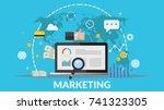 concept online marketing vector