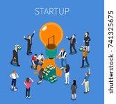 ico for startup isometric...   Shutterstock .eps vector #741325675