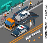 Isometric Composition With Tow...