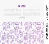 testimonials and quote concept... | Shutterstock .eps vector #741327094