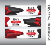 black friday sale design banner ... | Shutterstock .eps vector #741327265