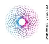 geometric circular pattern ... | Shutterstock .eps vector #741334165
