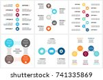 vector circle metaball timeline ... | Shutterstock .eps vector #741335869