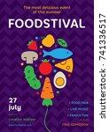 food festival poster design... | Shutterstock .eps vector #741336517