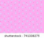 mini heart seamless pattern ...   Shutterstock .eps vector #741338275