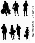 vector people | Shutterstock .eps vector #7413424