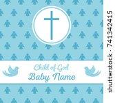 baptism invitation card...   Shutterstock .eps vector #741342415