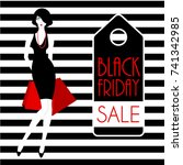 black friday poster design with ... | Shutterstock .eps vector #741342985