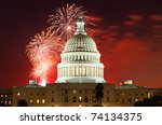 united states capitol building...   Shutterstock . vector #74134375