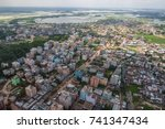 the helicopter shot from dhaka  ... | Shutterstock . vector #741347434