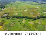 the helicopter shot from dhaka  ... | Shutterstock . vector #741347644