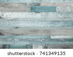 rough weathered wooden board.... | Shutterstock . vector #741349135