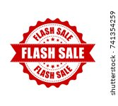 flash sale grunge rubber stamp. ... | Shutterstock .eps vector #741354259