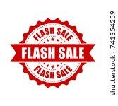 flash sale grunge rubber stamp. ... | Shutterstock .eps vector #741354259