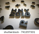 3d letters or alphabet. new... | Shutterstock . vector #741357331
