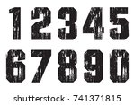 set of grunge numbers.vector... | Shutterstock .eps vector #741371815
