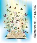 Open Book With Butterflies...