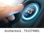 finger pressing a car start... | Shutterstock . vector #741374881