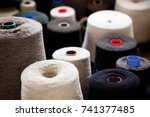loom factory with knitting... | Shutterstock . vector #741377485