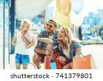 young parents with four years... | Shutterstock . vector #741379801