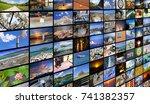 big multimedia video and image... | Shutterstock . vector #741382357