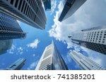 high building financial... | Shutterstock . vector #741385201