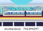 illustration of a railway... | Shutterstock .eps vector #741394297