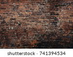 old brick wall | Shutterstock . vector #741394534