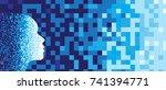 abstract artificial... | Shutterstock .eps vector #741394771