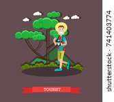 vector illustration of tourist... | Shutterstock .eps vector #741403774