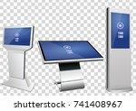 set of promotional interactive...   Shutterstock .eps vector #741408967