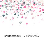 grey and pink valentine's day...   Shutterstock .eps vector #741410917