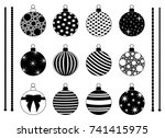 set of different christmas... | Shutterstock .eps vector #741415975