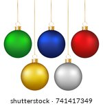 set of realistic shiny colorful ...   Shutterstock .eps vector #741417349