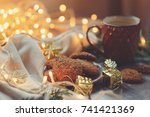 cozy winter and christmas... | Shutterstock . vector #741421369