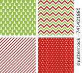 set of vector seamless abstract ... | Shutterstock .eps vector #741421885