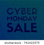 cyber monday sale. vector... | Shutterstock .eps vector #741422575