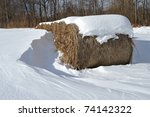 Straw Bales In Winter