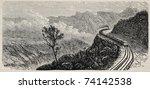Old Illustration Of Mont Cenis...