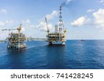 production platforms connected... | Shutterstock . vector #741428245