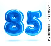 blue glossy celebrate letter... | Shutterstock . vector #741435997