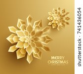 paper graphic of christmas... | Shutterstock .eps vector #741436054