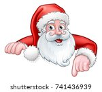 christmas cartoon of santa... | Shutterstock .eps vector #741436939