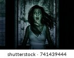3d illustration of scary ghost...   Shutterstock . vector #741439444